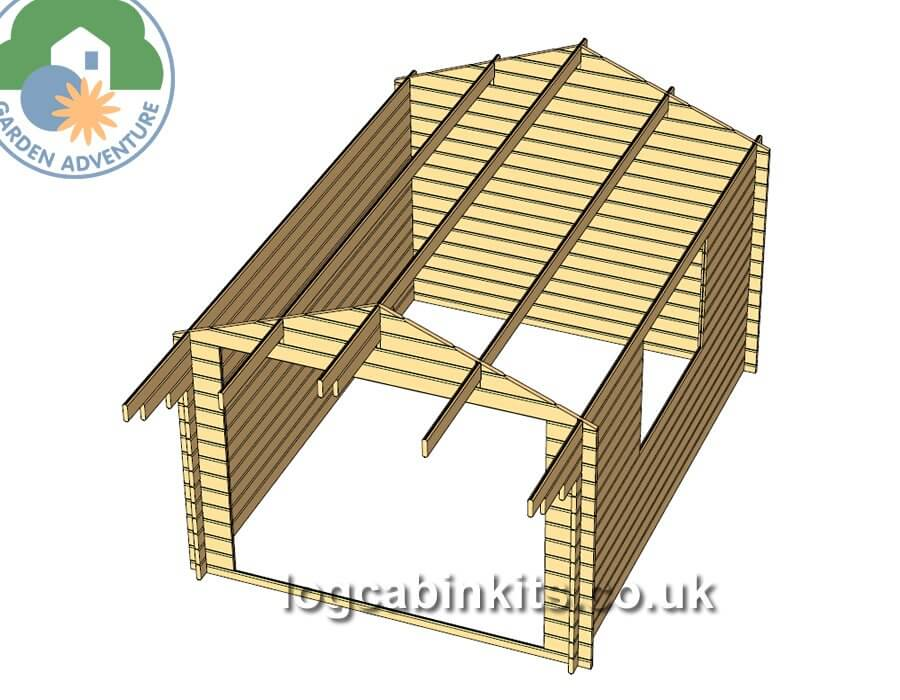 Clovelly 3x4 Log Cabin