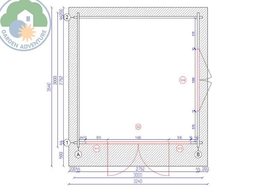 Cervinia Plus 3x3 Plan View (Large~)