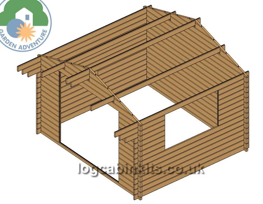 Clovelly 4x3 Log Cabin