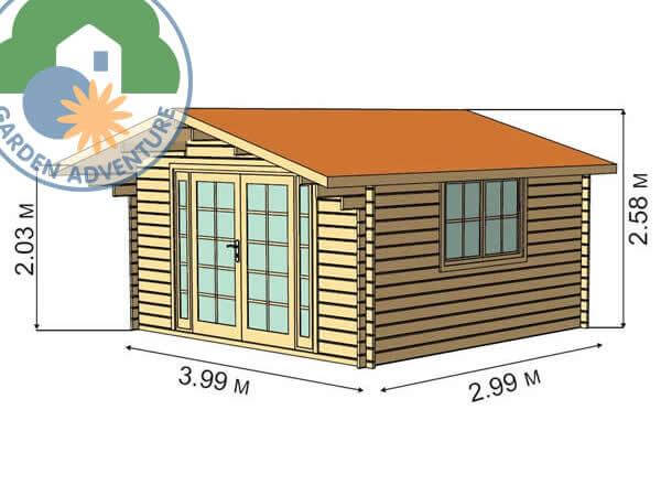 Clovelly 4x3 Log Cabin Spec
