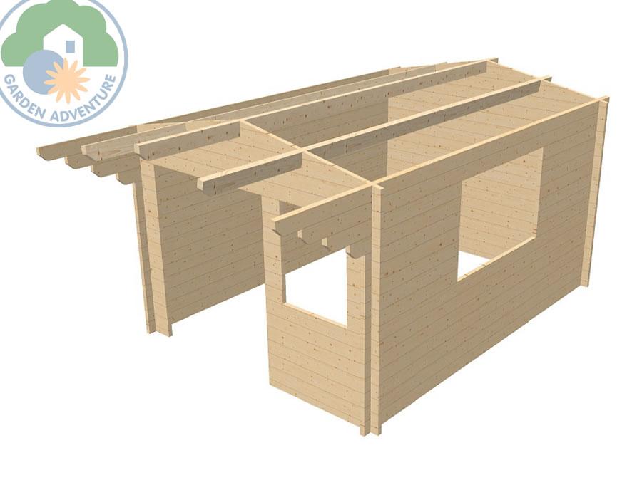 Marquis 3x4 Log Cabin