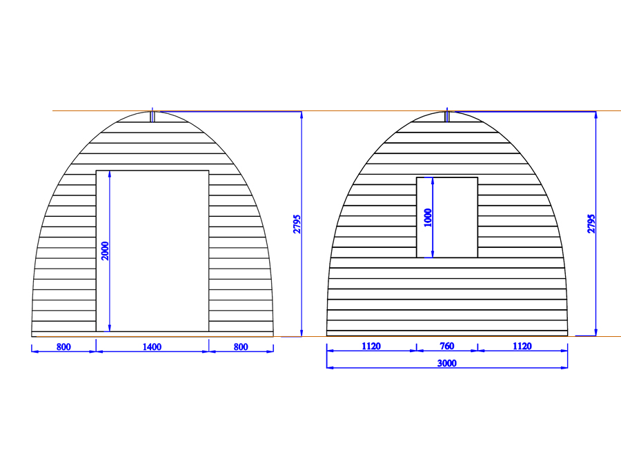 Camping Pod 3x3 Drawings (Large)