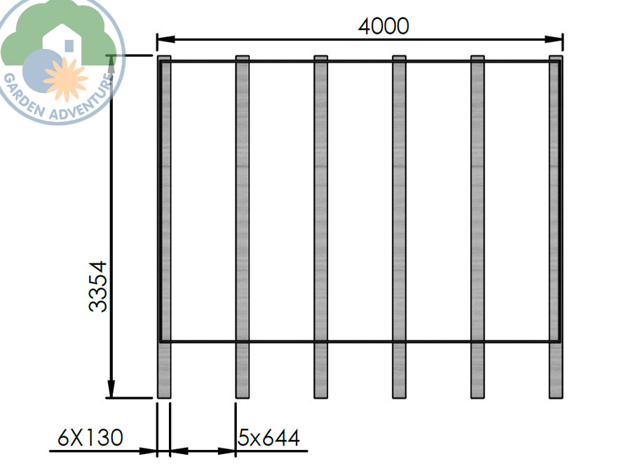 Camping Pod 4x3 Plan View (Large~)