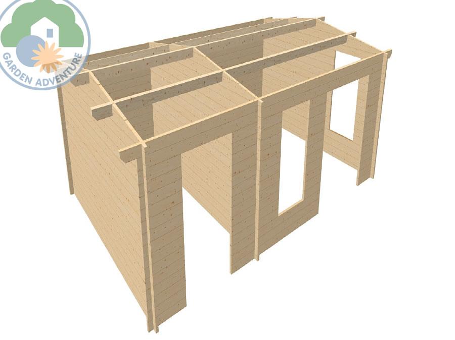 Meribel 6x4 Log Cabin