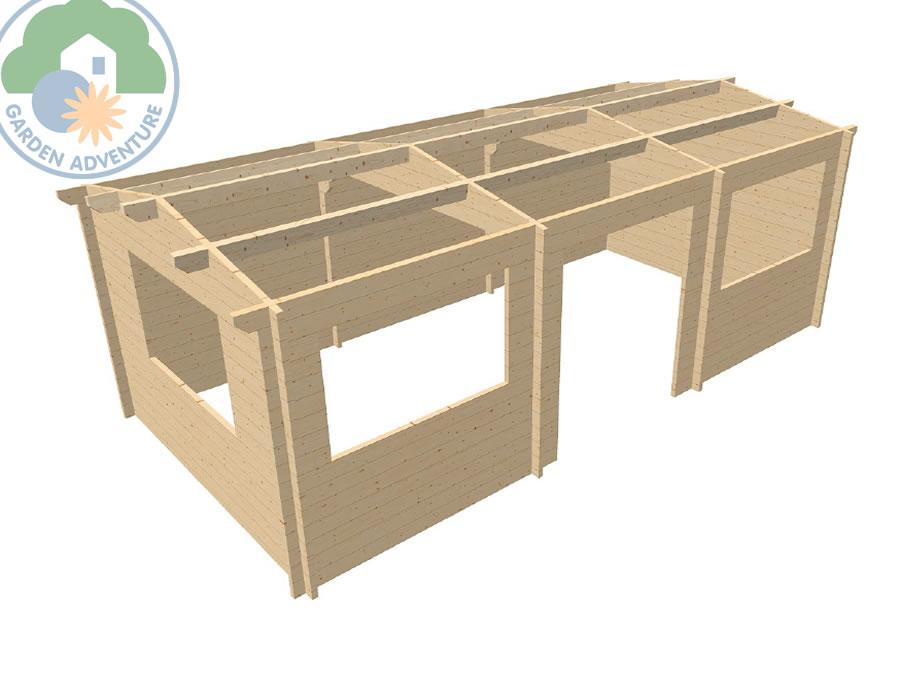 Selva 6x3 Log Cabin