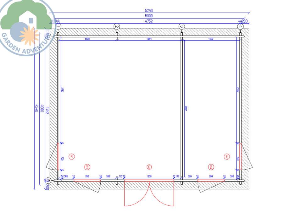 Clockhouse 5x4 Plan View (Large~)
