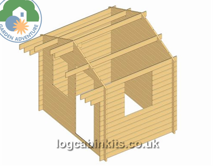 Luton 3x2 Log Cabin