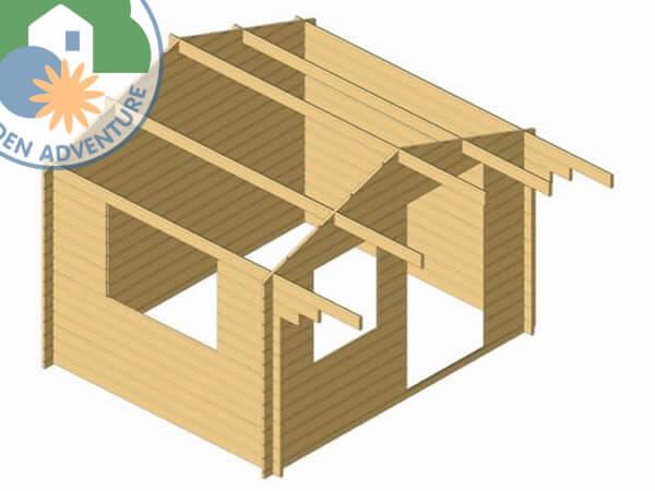 Luton 3x3 Log Cabin