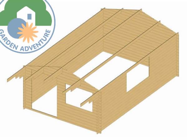 Wales 4x5 Log Cabin