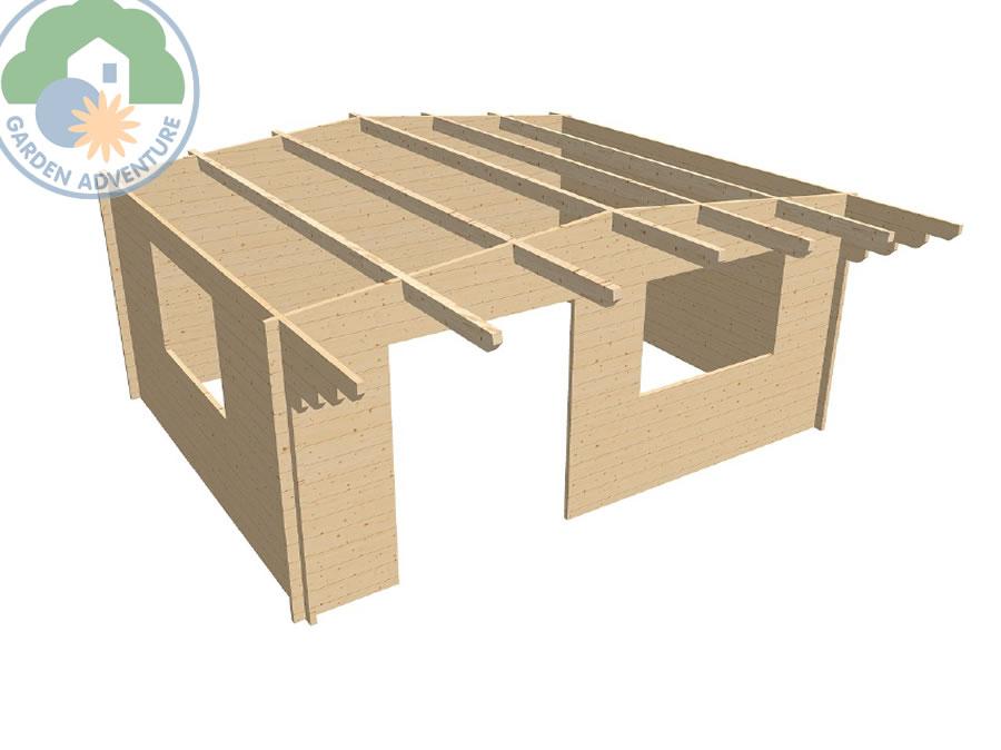Liverpool 5x4 Log Cabin 3d