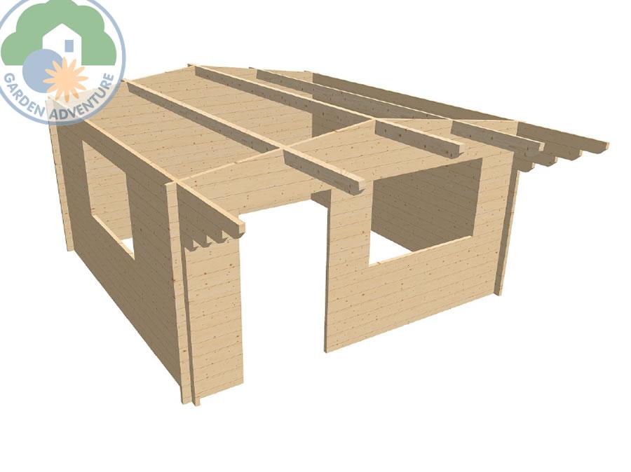Devon 4x4 Log Cabin 3d
