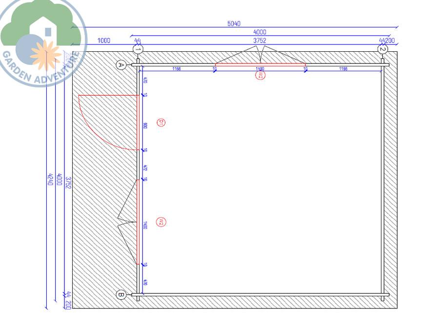 Devon 4x4 Log Cabin Plan