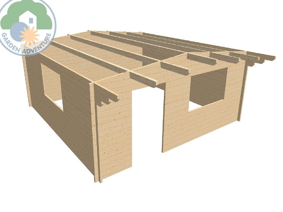 Devon 5x5 Log Cabin 3d