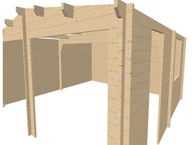 Wooden 6x6 3D