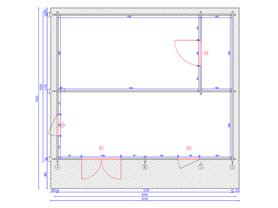 Chalet 6x5 Plan View