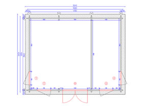 Clockhouse 5x4 Plan View