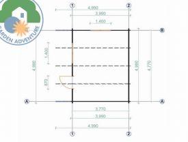 Luton 5x4 Plan View
