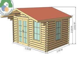 Corvara 4x3 Log Cabin