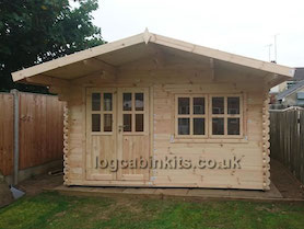 Arabba 4x3 Log Cabin