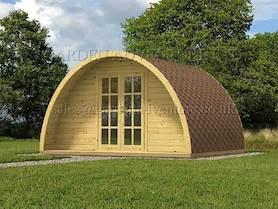 Camping Pod 4x3 Log Cabin