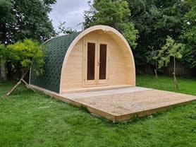 Camping Pod 4x6 Log Cabin