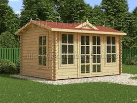 Clockhouse 4x3 Log Cabin