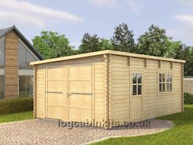 Low 4x6 Log Cabin