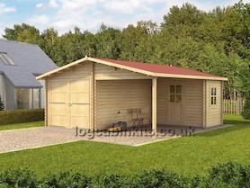 Workshop and Log Cabin