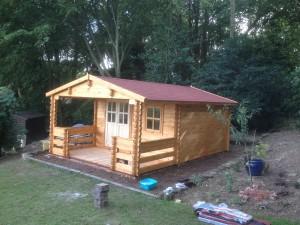 Tewkesbury Log Cabin in 68mm Logs