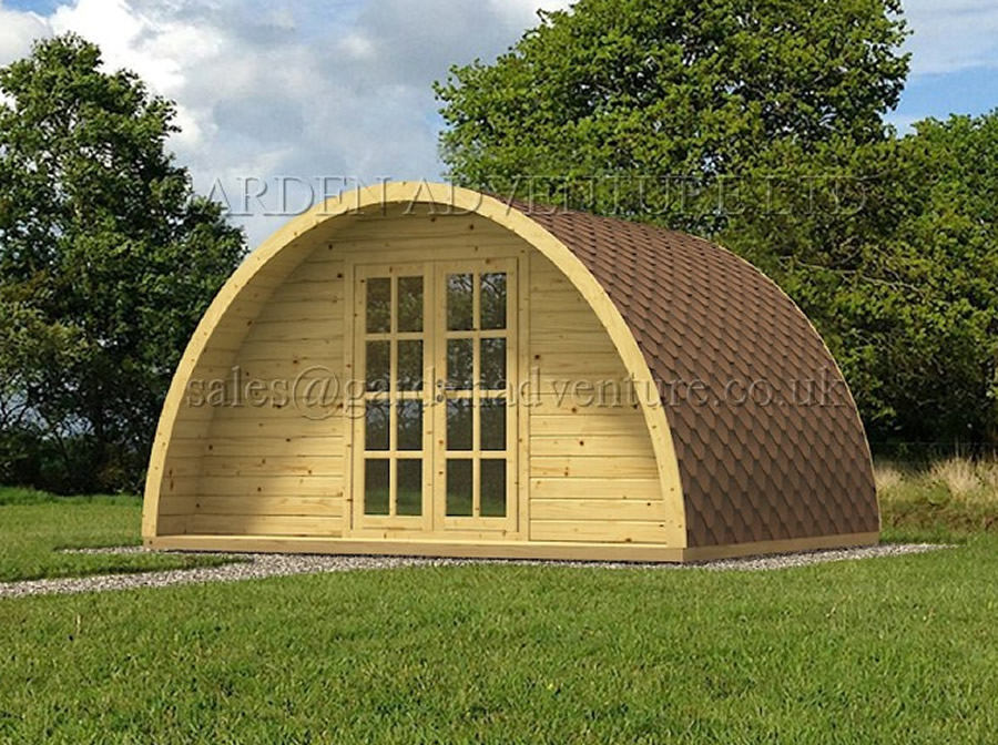 Camping Pod in 34mm Wall Logs