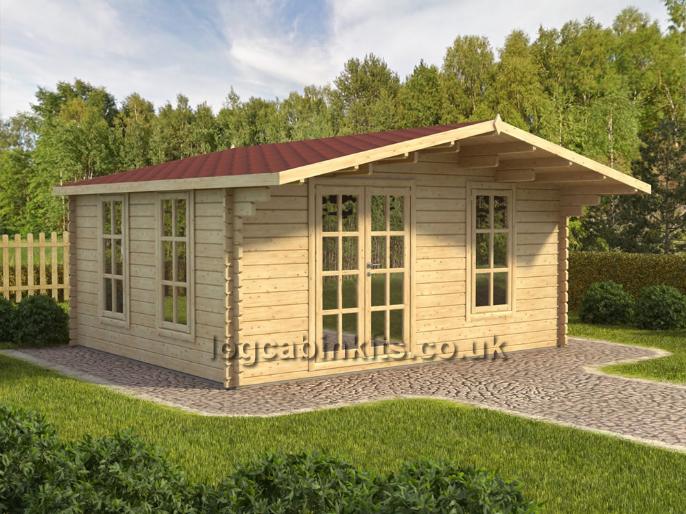 Corvara Log Cabin in 44mm Wall Logs