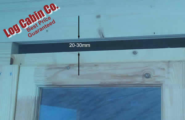 Window frame gap